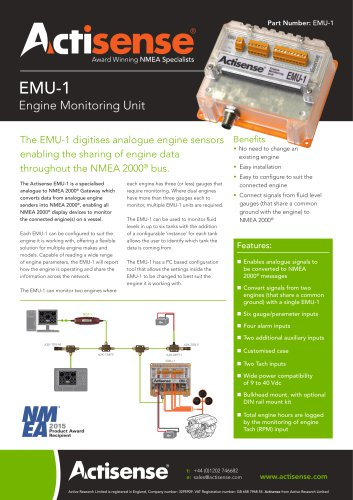 EMU-1 Engine Monitoring Unit