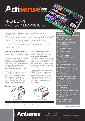 PRO-BUF-1 Datasheet