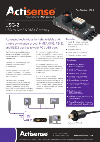 USG-2 Datasheet