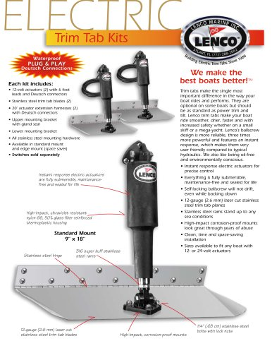 ELECTRIC TRIM TAB KITS