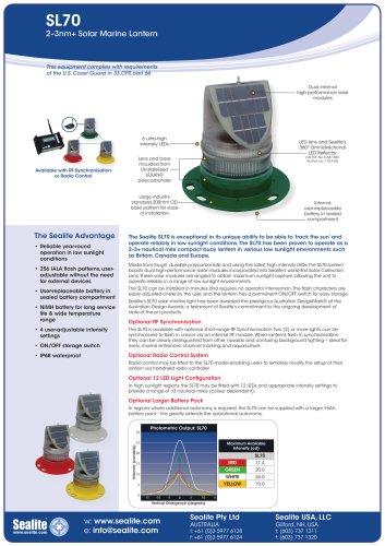 SL70 2-3nm+ Solar Marine Lantern