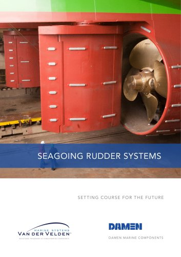 Seagoing rudder systems