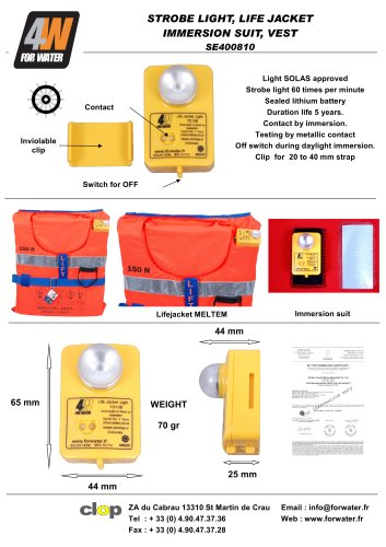 SOLAS LIFE JACKET LIGHT