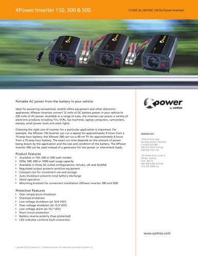 XPower Inverter 150, 300 & 500