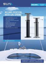 RECARO PEDESTAL WITH GAS SPRING