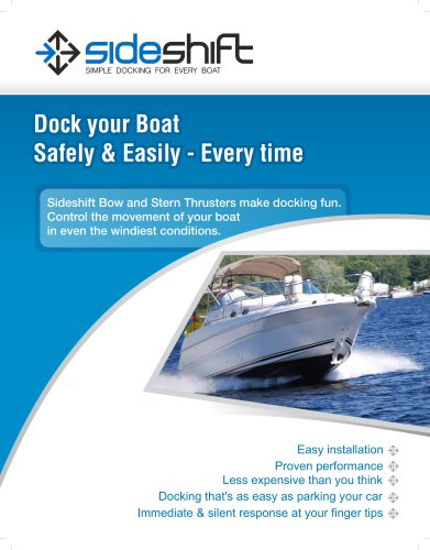 Sideshift Brochure - Bow Thrusters & Stern Thrusters