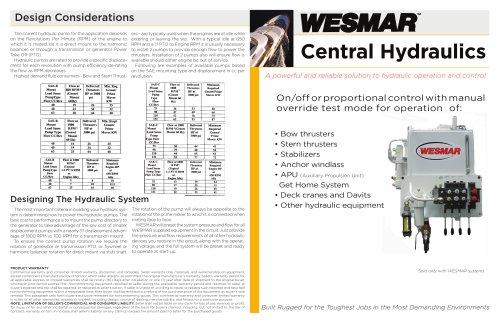 WESMAR Hydraulic Systems