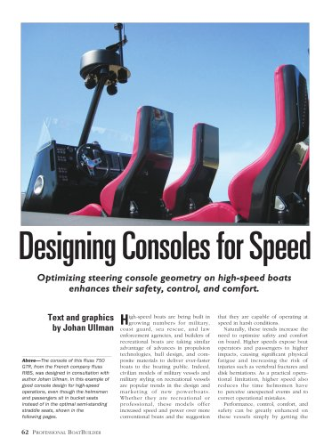 Designing Consoles for Speed