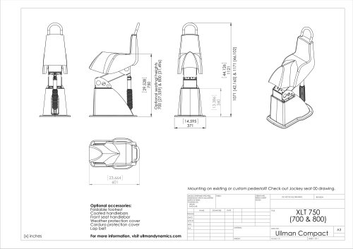 Ullman Compact Jockey Seat Drawing
