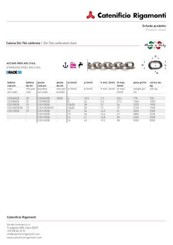 S/S 316L Windlass Chain G50