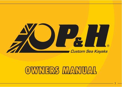 P & H OWNERS MANUAL
