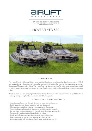 HoverFlyer 580