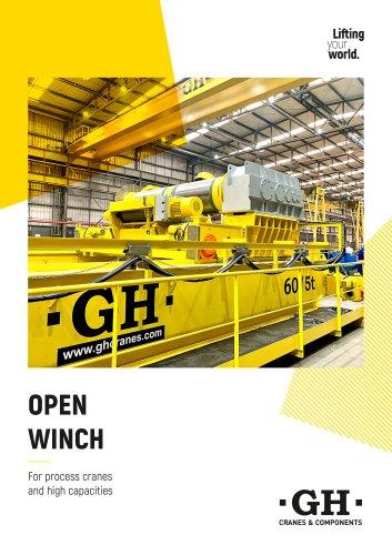 Open winch