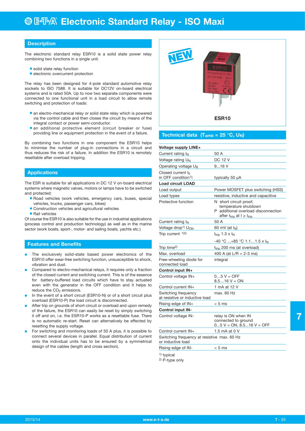 Esr10 E T A Elektrotechnische Apparate Pdf Catalogues Solid State Relay Fail Closed 1 4 Pages