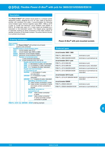 Flexible Power-D-Box® with pcb for 3600/2210/ ESS20/ESX10
