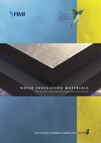 Brochure: Noise Insulation Materials