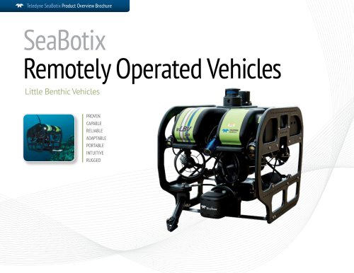 SeaBotix ROV Product Catalog