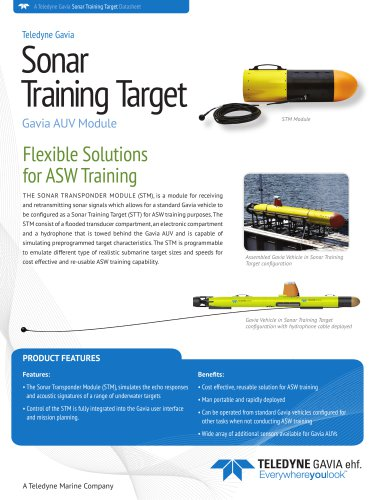 Sonar Training Target