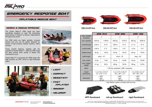 Emergency Response Boat Inflatable Rescue Boat