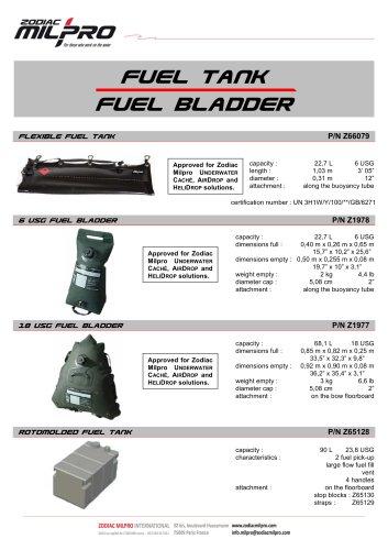 Fuel Bladder - Fuel Tank