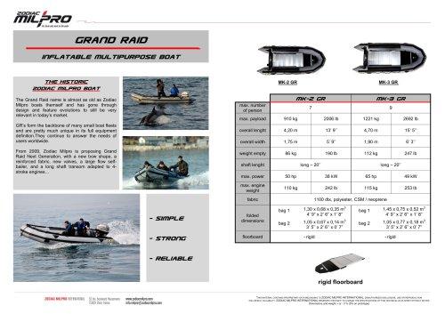 Grand Raid Inflatable Multipurpose Boat