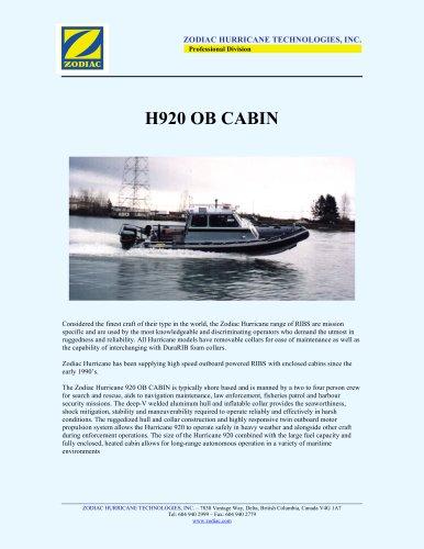 H920 OB CABIN