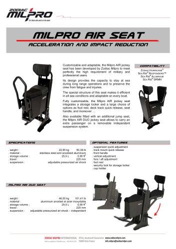 Milpro AIR / AIR DUO seat