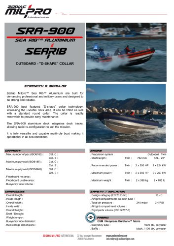 SRA-900 OB D-SHAPE