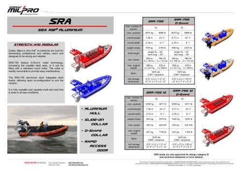 the SRA range brochure