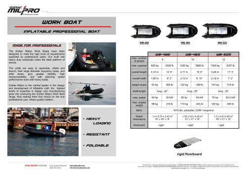 Work Boat Inflatable Professional Boat