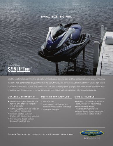 SunLift Mini Sales Sheet