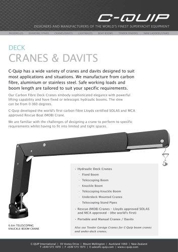 DECK CRANES & DAVITS