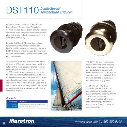DST110 depth / speed / temperature triducer