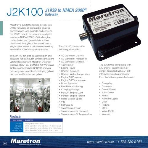 J2K100 J1939 to NMEA 2000® gateway