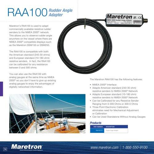 RAA100 rudder angle adapter
