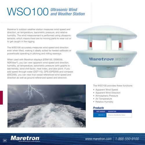 WSO100 ultrasonic wind and weather station