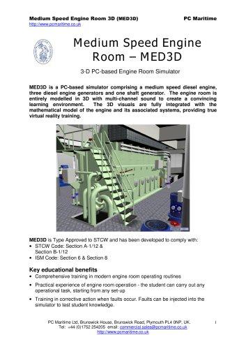 Medium Speed Engine Room Simulator