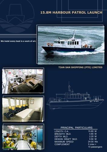 15.8M Harbour patrol launch