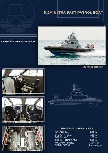 9.2M Ultra Fast Patrol Boat