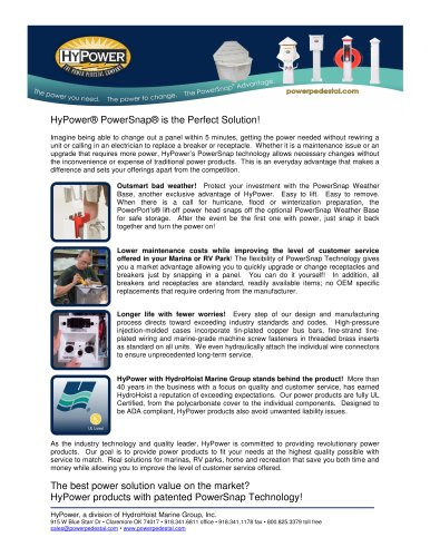 HyPower® PowerSnap® Advantages