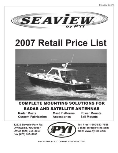 2007 Price List