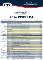 2016 Seaview Price List