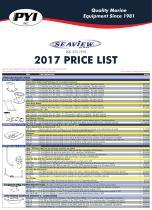 Seaview 2017 Price List