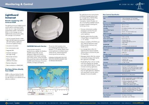 LightGuard INMARSAT Catalogue Sheet