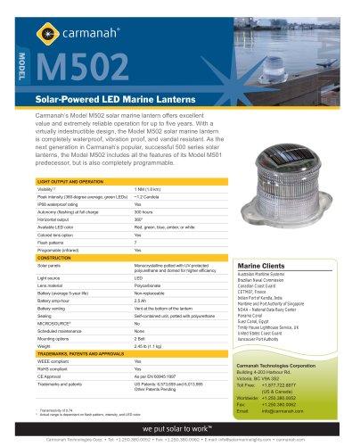 Solar LED marine lantern m502