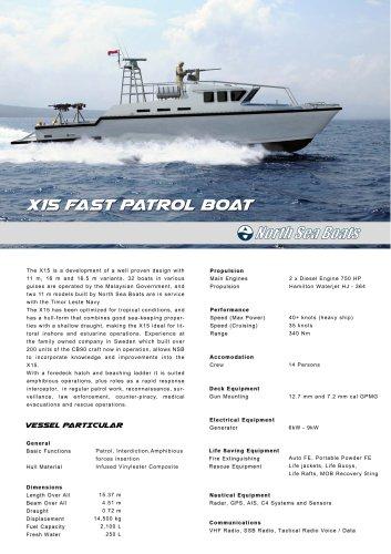 X15 Fast Patrol Boat