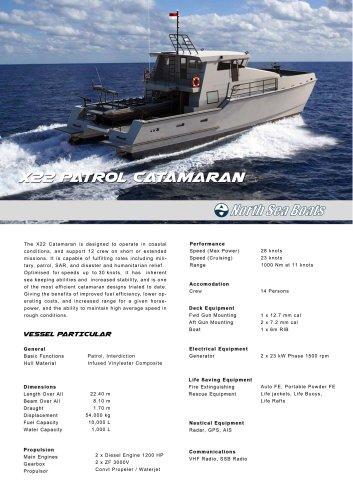 X22 Patrol Catamaran