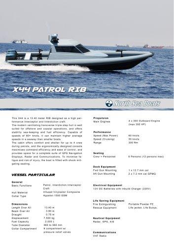 X44 Patrol RIB