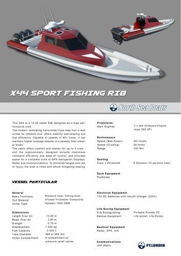 X44 Sport Fishing RIB