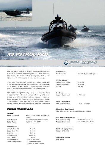 X9 Patrol RIB